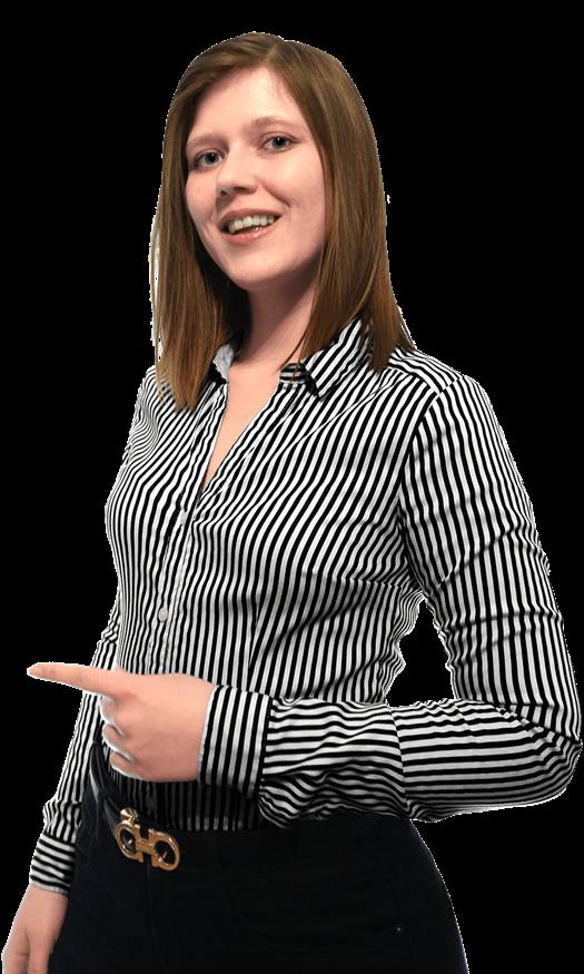 Anika peger ind mod kontaktformularen. Hun står klar til at hjælpe dig, så send din e-mail allerede nu.