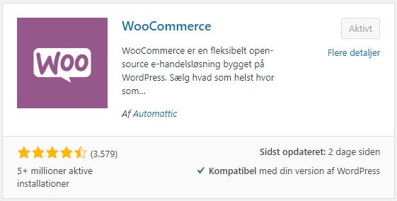 WooCommerce pluginnet set i WordPress plugin browseren